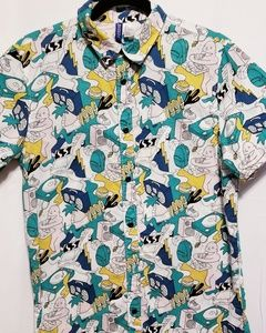 Other - Forever 21 Button Down Short Sleeve Shirt Size S